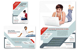 Computer Solutions Flyer & Ad - Word Template & Publisher Template