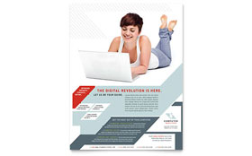 Computer Solutions Flyer - Word Template & Publisher Template