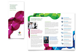 Network Administration Tri Fold Brochure - Word Template & Publisher Template
