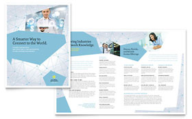 Global Network Services Brochure - Microsoft Office Template