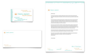 Travel Agency Letterhead - Word Template & Publisher Template