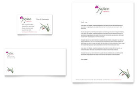 Japan Travel Letterhead - Word Template & Publisher Template