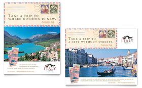 Italy Travel Poster - Word Template & Publisher Template