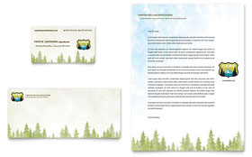 Nature Camping & Hiking Business Card & Letterhead - Word & Publisher Template