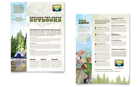 Nature Camping & Hiking Datasheet - Word Template & Publisher Template