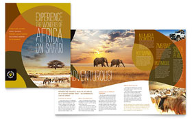 African Safari Pamphlet Template