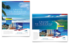 Cruise Travel Poster - Word Template & Publisher Template