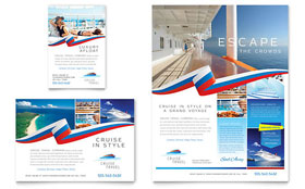 Cruise Travel Flyer & Ad - Word Template & Publisher Template