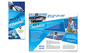 Fishing Charter & Guide Brochure - Microsoft Office Template