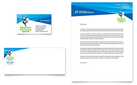 Fishing Charter & Guide Business Card & Letterhead - Microsoft Office Template