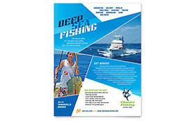 Fishing Charter & Guide Flyer - Microsoft Office Template