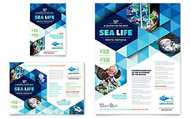 Ocean Aquarium Ad - Word Template & Publisher Template