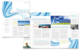 Renewable Energy Consulting Newsletter - Word Template & Publisher Template