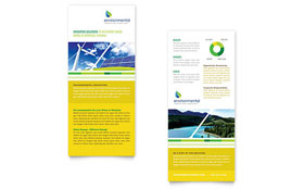 Environmental Conservation Rack Card - Word Template & Publisher Template