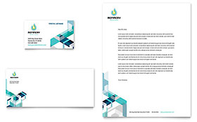 Oil & Gas Company Letterhead - Word Template & Publisher Template