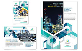 Oil & Gas Company Ad - Word Template & Publisher Template
