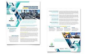 Oil & Gas Company Datasheet - Word Template & Publisher Template