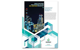 Oil & Gas Company Flyer - Word & Publisher Template