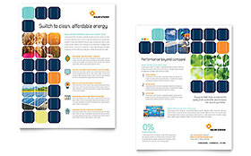 Solar Energy Datasheet - Word Template & Publisher Template