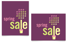 Spring Plant Sale Poster - Word Template & Publisher Template