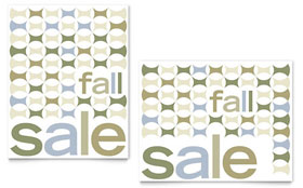Geometric Fall Color Poster Template