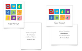 Holiday Icons Greeting Card Template