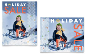 Child Sledding Sale Poster - Word Template & Publisher Template