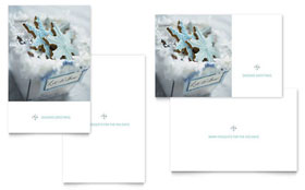 Snowflake Cookies Greeting Card - Word Template & Publisher Template
