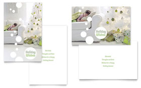 Christmas Dreams Greeting Card - Word Template & Publisher Template