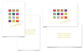 Christmas Presents Greeting Card Template
