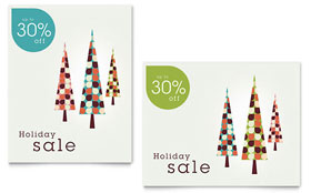 Modern Holiday Trees Sale Poster - Word Template & Publisher Template