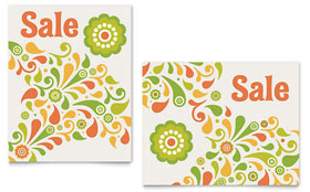 Spring Color Floral - Sale Poster Template