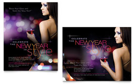 New Year Celebration Poster Template