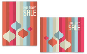 Modern Ornaments Sale Poster - Word Template & Publisher Template