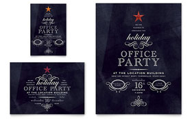Office Holiday Party Flyer & Ad - Word Template & Publisher Template
