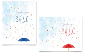 Rainy Day - Sale Poster Template