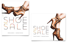 Designer Shoes Sale Poster - Microsoft Office Template