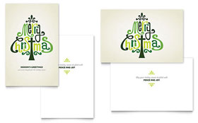 Contemporary Christian Greeting Card - Word Template & Publisher Template