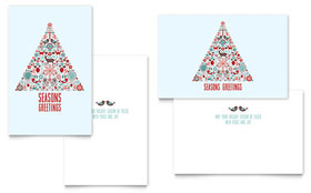 Holiday Art Greeting Card - Word Template & Publisher Template