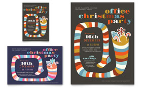 Christmas Party Flyer & Ad - Word Template & Publisher Template
