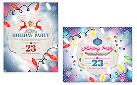 Holiday Party Poster - Word Template & Publisher Template
