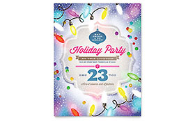 Holiday Party Flyer - Word Template & Publisher Template