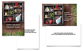 Crafty Ornaments Greeting Card Template