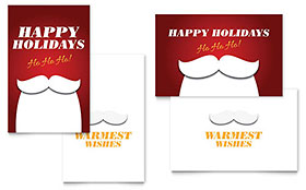 Ho Ho Ho Greeting Card - Word Template & Publisher Template