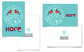 Hope Greeting Card - Word Template & Publisher Template