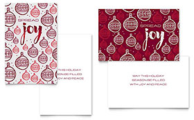 Joy Greeting Card - Word Template & Publisher Template