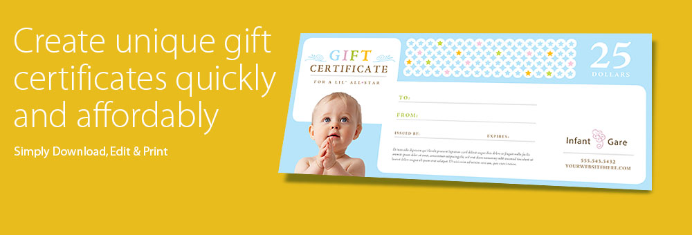 Pin Auto Gift Certificate Template on Pinterest