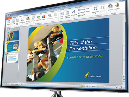 Printable PowerPoint Presentation Template - Microsoft Word & Publisher