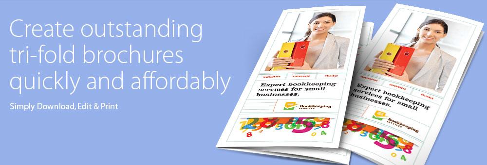 Printable Tri Fold Brochure Templates - Microsoft Word & Publisher