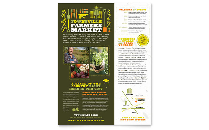 Farmers Market Flyer Template - Word & Publisher